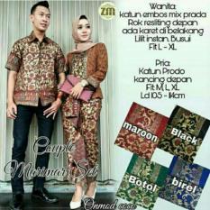 Couple Baju Batik Kebaya Berlian SH Modis #ukuran M, L, XL #Warna dan model 1 Pasang Wanita dan Pria
