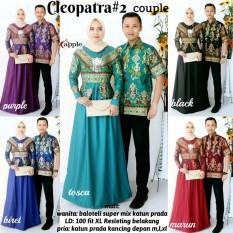 Couple Batik Baju Pasangan Gamis Baloteli - Sarimbit Batik