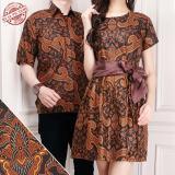 Beli Couple Batik Dress Pendek Wanita Dan Atasan Kemeja Pria Mini Dress Shirt Azmi Cicilan
