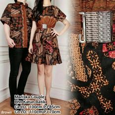 Jual Couple Batik Dress Wanita Mini Dress Atasan Kemeja Pria Shirt Maliska Dress Murah