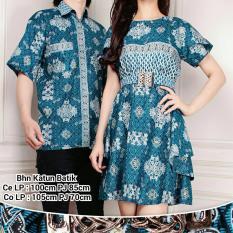 Spek Couple Batik Mini Dress Wanita Dan Atasan Kemeja Pria Raniesa Banten