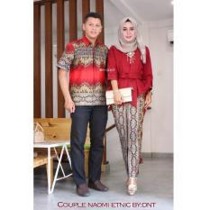 Couple Batik Naomi Etnic Maroon