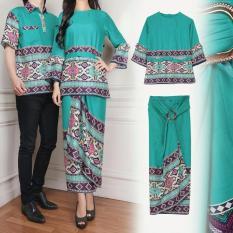 Couple Bella 3in1 Tosca Couple Kemeja Baju Batik Pria Couple / Gamis Muslim / Kebaya Dress Wanita / Set Muslim / setelan baju muslim / kabaya pesta / kebaya modis