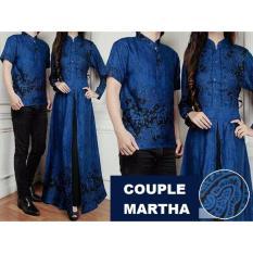 Couple Busui MARTHA Gamis Maxi + Baju Koko / Couple Batik