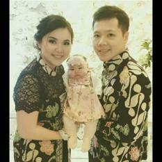 Couple Dress Brokat Kombinasi Batik