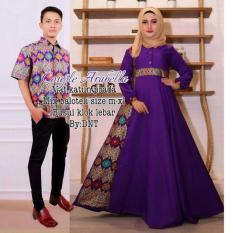 Couple Gamis Arabella Ungu