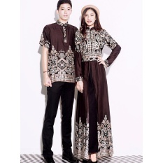 Beli Long Dress Casual Wanita Gamis Syari Couple Gamis Azalea Brown Kredit