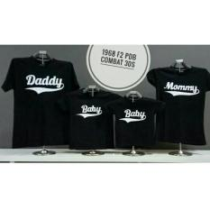 Couple lover-kaos couple family DADDY MOMMY BABY 2ANAK (AYAH+IBU+2ANAK)  FASHION FAMILY  KAOS KAPEL  T-SHIRTS FAMILY  BAJU KEMBARAN
