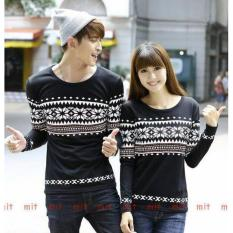 Couple lover - kaos couple PARIS FLOWER black lp (PRIA+WANITA)  FASHION COUPLE  BAJU KAPEL  KAOS KEMBARAN  T-SHIRTS COUPLE