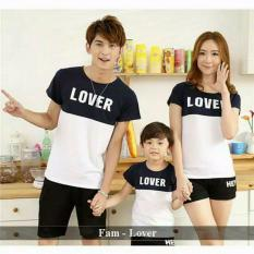 Couple lover- kaos keluarga / couple family  LOVER white (AYAH+IBU+ANAK)  FASHION FAMILY  BAJU KELUARGA  T-SHIRTS COUPLE  KAOS KAPEL  BAJU KEMBARAN