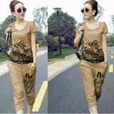 Couple Lover Stelan Wanita Atasan Celana Tiger Mocca Fashion Wanita Set Wanita Stelan Cewek Women T Shirts Murah