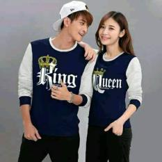 couple lover-sweater COUPLE L1 KING QUEEN COMBINASI  (PRIA+WANITA)  FASHION COUPLE  BAJU KEMBARAN  SWEATER KAPEL  BAJU PASANGAN
