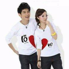 Couple lover - T-Shirt couple / koas pasangan LET LOVE white lp (PRIA L + WANITA M )   FASHION COUPLE   BAJU KEMBARAN   KAOS KAPEL   T-SHIRTS COUPLE