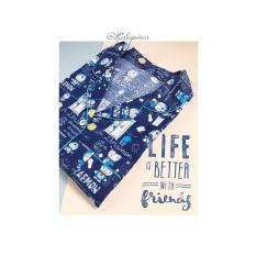 Couple Piyama Anak Dan Ibu Celana Tidur Panjang Baju Sleepwear Katun D - 79Bed7