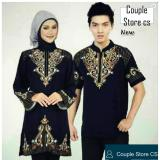 Jual Cepat Couple Store Cs Baju Muslim Pasangan Muslim Couple Pelangi Chintia Bordir Black