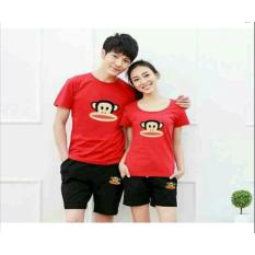 Promo Couple Store Cs Couple Stelan Atasan Celana Frank Monkey Red Murah