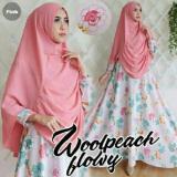 Beli Couple Store Cs Dress Muslim Sweet 2 In 1 Good Quality Pink Bahan Woolpeach Import Online Terpercaya