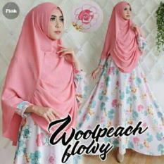 Couple Store Cs Dress Muslim Sweet 2 In 1 Good Quality Pink Bahan Woolpeach Import Couple Store Cs Diskon