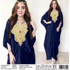 couple store cs - kaftan elegant wanita muslim bahan velvet import NAVY