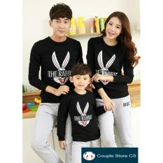 Beli Couple Store Cs Kaos Keluarga T Shirt Family Ayah Bunda Anak Kaos Rabbit Black Couple Store Cs