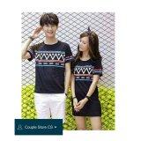 Toko Couple Store Cs Kaos Pasangan Dress Fashion Zig Zag Hitam Online Terpercaya