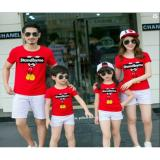 Jual Couple Store Cs Kaos Pasangan Family 2 Anak Standbyme Mickey Red Ayah Bunda 2 Anak Mickey Mouse Red Couple Store Cs Original