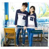 Beli Couple Store Cs Kaos Pasangan Nsun Lengan Panjang White Navy Kredit