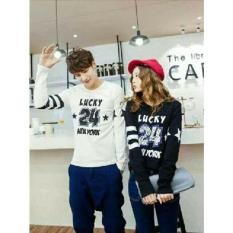 Harga Couple Store Cs Kaos Pasangan T Shirt Couple Lucky 24 Black White Couple Store Cs Terbaik