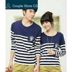 Toko Couple Store Cs Kaos Pasangan T Shirt Couple Salur Sailor Jangkar Navy Couple Store Cs
