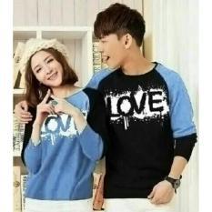 Cara Beli Couple Store Cs Kaos Pasangan T Shirt Lengan Panjang L O V E Blue Sky I Cod I Bayar Tempat I Bluesky I Lp I Cp I Pasangan I