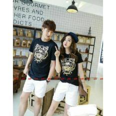 Jual Couple Store Cs Kaos Pasangan Tiger Black Satu Set