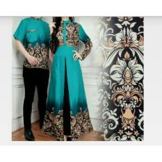 couple store cs - kemeja couple batik elegant 3 in 1 mila tosca I COD I BAYAR TEMPAT I MOTIF BATIK I 2 PC I GOOD QUALITY I FIT TO XL I