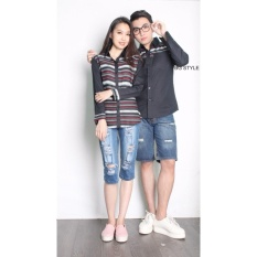 Harga Couple Store Cs Kemeja Pasangan Bg Style Romantic Black Asli