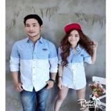 Couple Store Cs Kemeja Pasangan Riovi Salur Couple Shirt Riovi Stripes Couple Store Cs Diskon