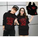 Diskon Couple Store Cs Sweater Couple Pasangan Dress Hockey 32 Black Atasan Rok Dki Jakarta