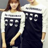 Toko Couple Store Cs T Shirt Pasangan Kaos Lengan Panjang Go Forward White Terlengkap