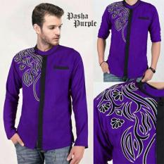 Katalog Couple Store Kemeja Muslim Koko Casual Bordir Purple Terbaru