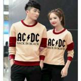 Harga Couplelover Baju Kapel Sweater Pasangan Acdc Mocca Maroon Pria Wanita Baju Pasangan Sweater Kapel Baju Kembaran Fashion Couple Fullset Murah