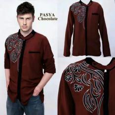 Beli Couplelover Baju Muslim Pria Koko Pash Bordir Chocolate Couplelover Asli