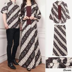 COUPLELOVER- BUSANA MUSLIM COUPLE BATIK RAMA 3IN1 BROWN  COUPLE FASHION  BAJU PASANGAN (PRIA+WANITA)