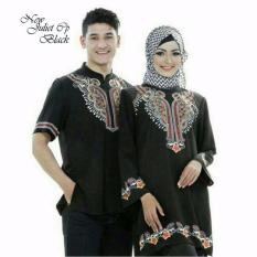 COUPLELOVER-MUSLIM WEAR (PRIA+WANITA)  ATASAN MUSLIM  BAJU FASHION   BUSANA MUSLIM COUPLE JULIET BORDIR BLACK