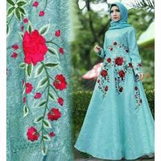 Couplelover Busana Muslim Wanita Maxi Laluna Hijab Fashion Pasmina Hijab Pakaian Muslim Maxi Wanita Maxy Brukat Gamis Murah