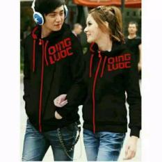 Beli Couplelover Jaket Pasangan Couple Qing Luoc Hitam Sablon Merah Yang Bagus