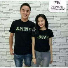 Katalog Couplelover Kaos Couple Army Black Pd Pria Wanita T Shirts Couple Baju Fashion Kaos Pasangan Kaos Kembaran Couplelover Terbaru