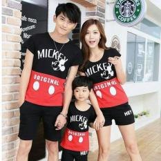 COUPLELOVER-COUPLE FAMILY ORIGINAL HITAM MERAH (AYAH+IBU+ANAK)  FASHION FAMILY  KAOS KAPEL  BAJU KELUARGA  BAJU KEMBARAN
