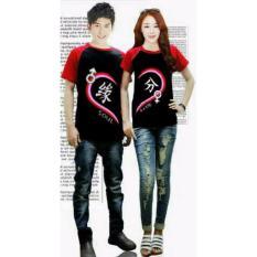 Harga Couplelover Kaos Couple Sm Love Black Red Pria Wanita T Shirts Couple Baju Fashion Kaos Pasangan