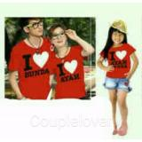 Spesifikasi Couplelover Kaos Keluarga I Love Ayah Bunda Kids Red Ayah Ibu Anak T Shirts Family Fashion Family Atasan Kembaran