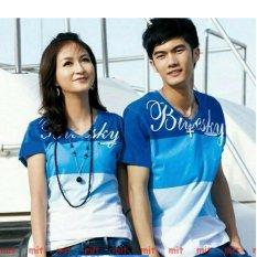 Jual Couplelover Kaos Pasangan Bluesky V Neck Pria Wanita Fashion Couple Baju Kembaran Kaos Kapel T Shirts Couple Online Di Dki Jakarta