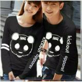 Harga Couplelover Kaos Pasangan Kickout Panda Black Lp Pria Wanita T Shirts Couple Baju Fashion Baju Kembaran Couple Atasan Termurah