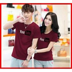 Jual Couplelover Kaos Kembaran Kaos Pasangan Youtube Maroon Pd Pria Wanita Baju Fashion Atasan Couple T Shirts Couple Murah Dki Jakarta